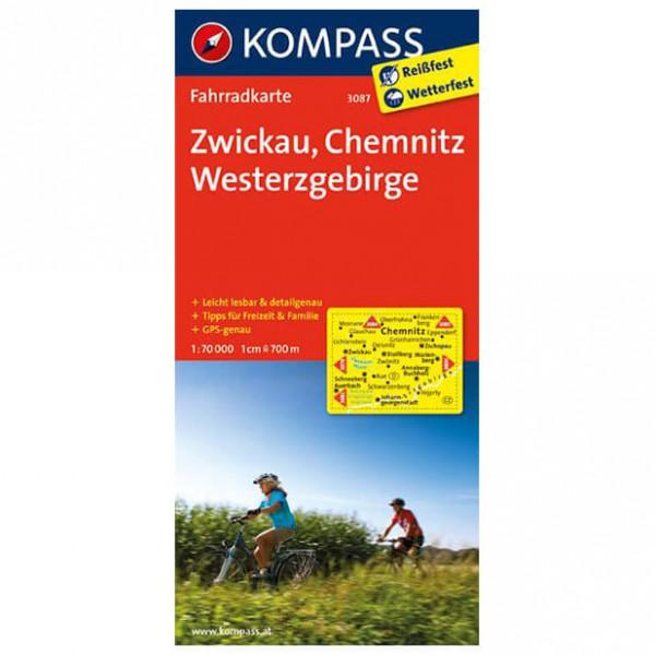 Kompass - Zwickau - Fietskaart