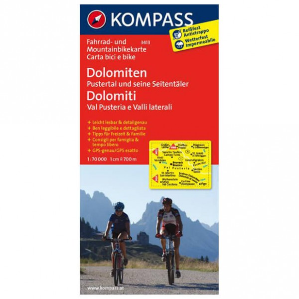Kompass - Dolomiten - Cycling maps