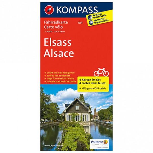 Kompass - Elsass - Pyöräilykartat