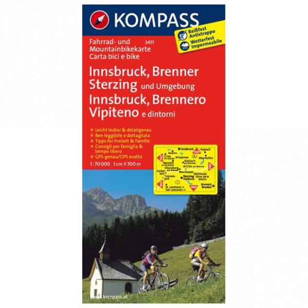 Kompass - Innsbruck - Sykkelkart