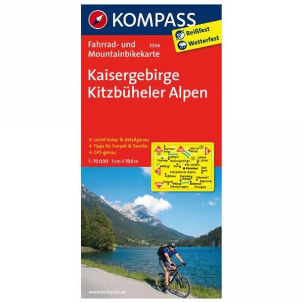 Kompass - Kaisergebirge - Mapa de rutas en bicicleta