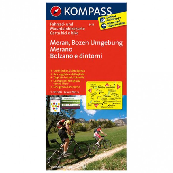 Kompass - Meran - Cartes de randonnée à vélo