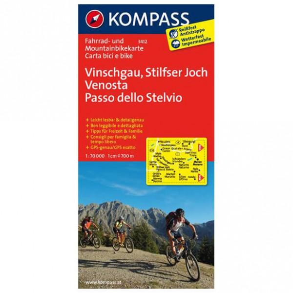 Kompass - Vinschgau - Cartes de randonnée à vélo