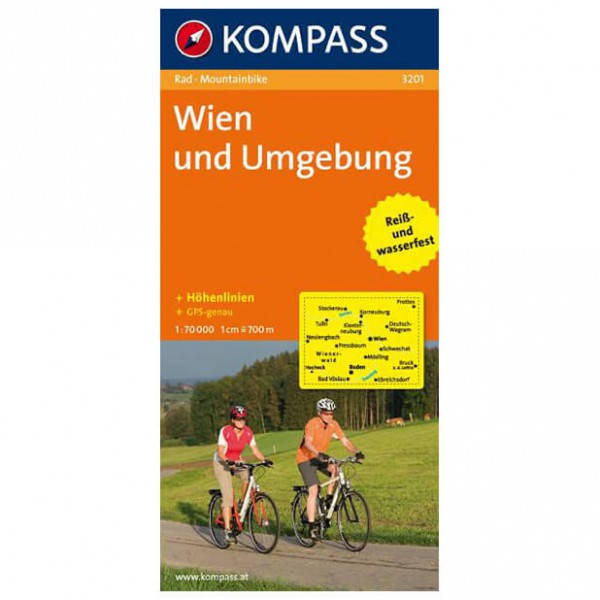 Kompass - Wien und Umgebung - Cartes de randonnée à vélo