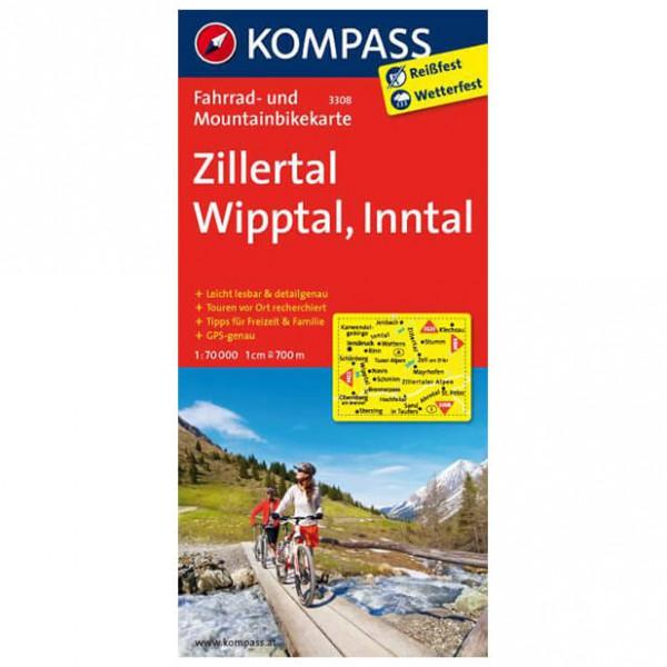 Kompass - Zillertal - Cartes de randonnée à vélo