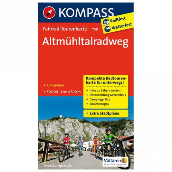 Altmhltalradweg - Cycling map