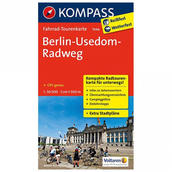Kompass - Berlin-Usedom-Radweg - Cycling map