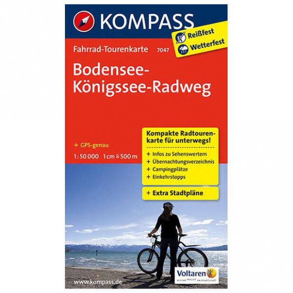 Kompass - Bodensee-Königssee-Radweg - Fietskaarten