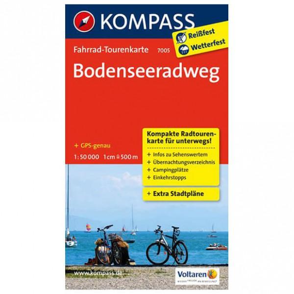 Kompass - Bodenseeradweg - Cykelkort