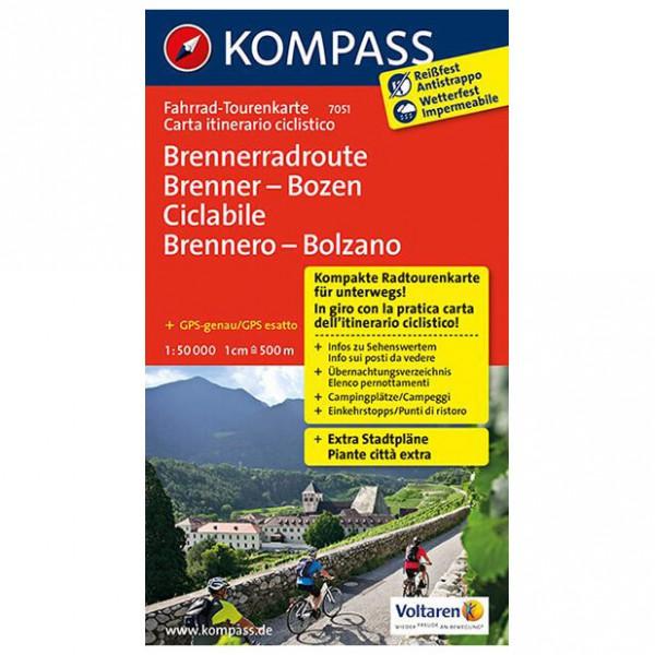 Kompass - Brennerradroute Brenner - Fietskaart