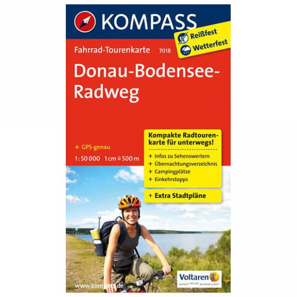 Kompass - Donau-Bodensee-Radweg - Cartes de randonnée à vélo