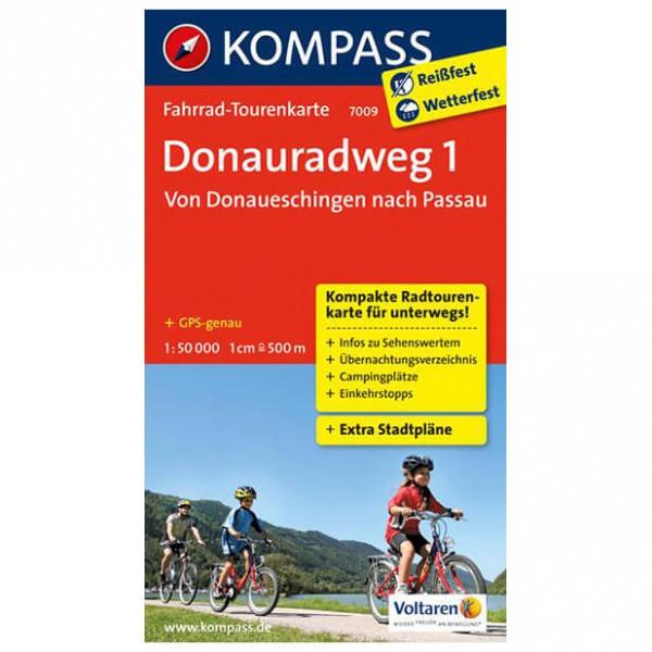 Kompass - Donauradweg 1, von Donaueschingen nach Passau - Cycling map
