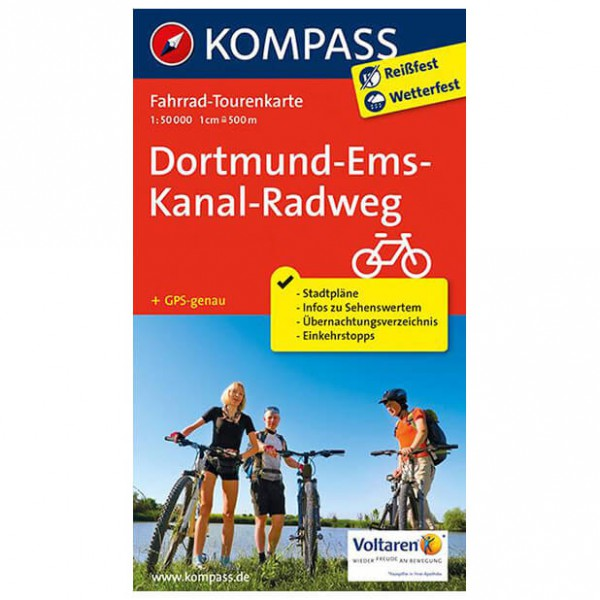 Kompass - Dortmund-Ems-Kanal-Radweg - Radkarte