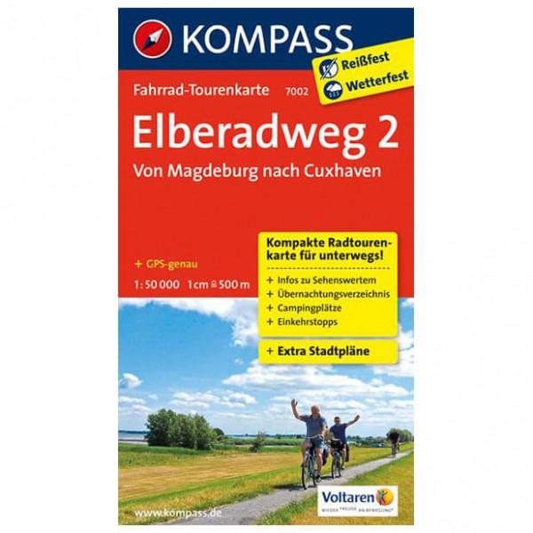 Kompass - Elberadweg 2, Von Magdeburg nach Cuxhaven - Cykelkort