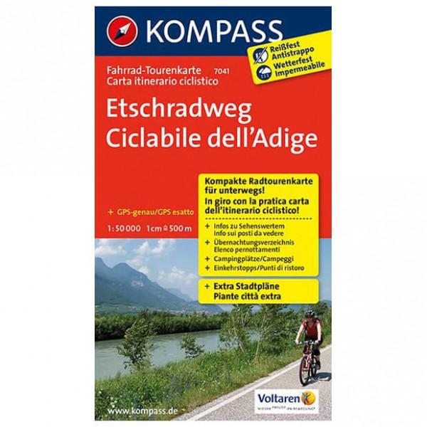Kompass - Etschradweg - Cykelkartor