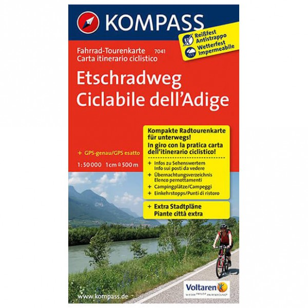 Kompass Etschradweg - Cykelkort køb online | Cycle maps