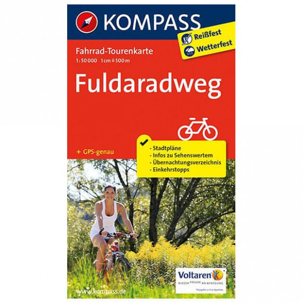 Kompass - Fuldaradweg - Cykelkartor