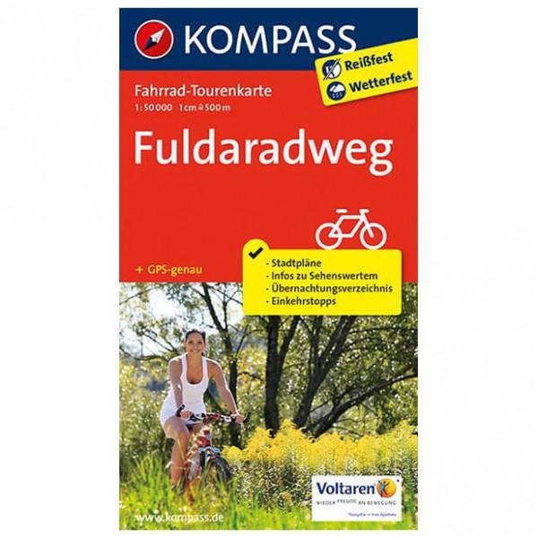 Kompass - Fuldaradweg - Pyöräilykartat