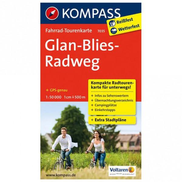 Kompass - Glan-Blies-Radweg - Sykkelkart
