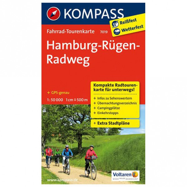 Kompass - Hamburg-Rügen-Radweg - Cykelkort