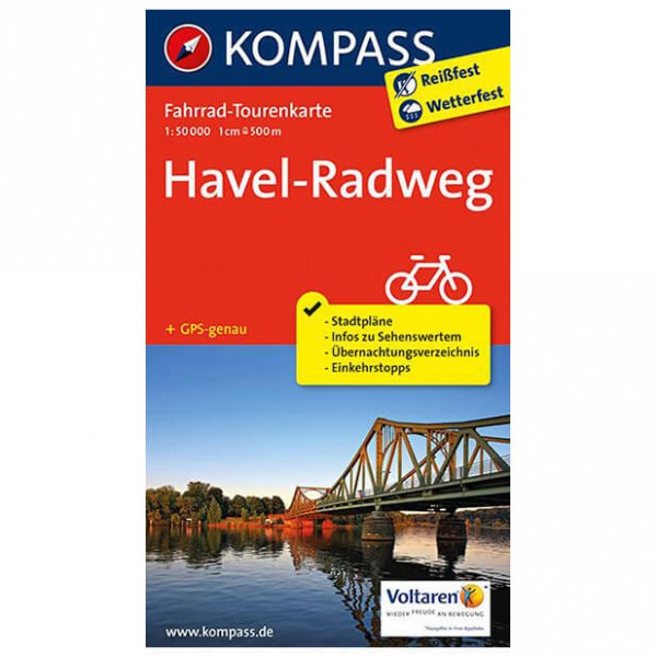 Kompass - Havel-Radweg - Carte de cyclisme