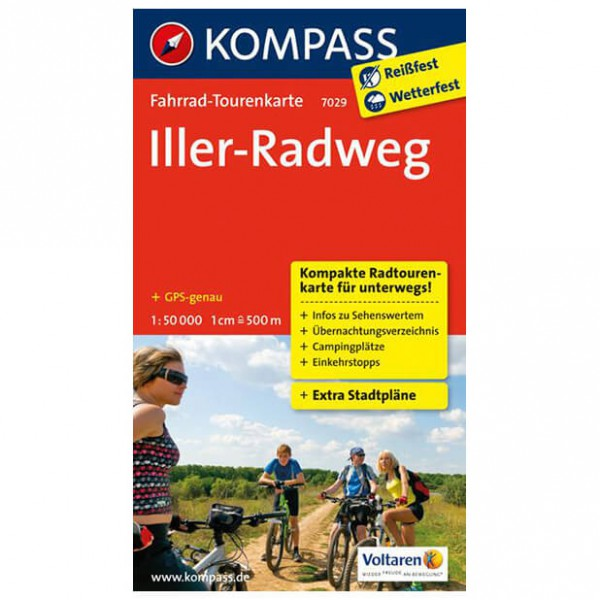 Kompass - Iller-Radweg - Carte de cyclisme