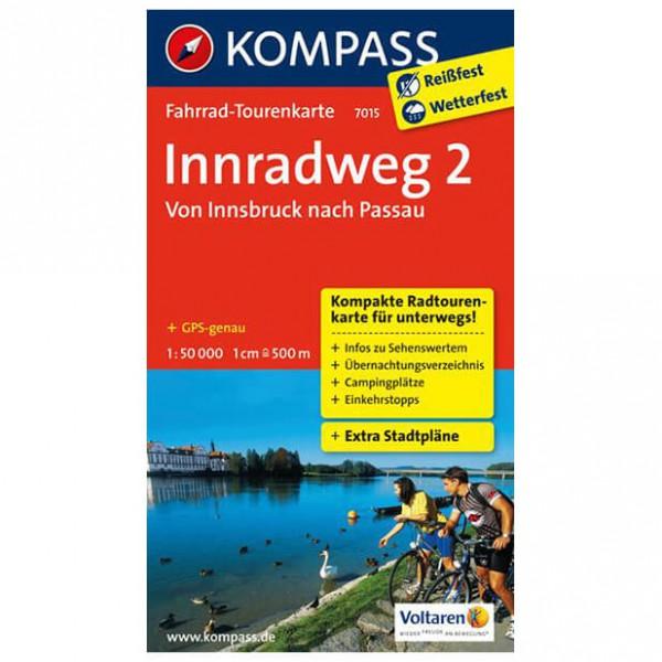 Kompass Innradweg 2, Von Innsbruck nach Passau - Cykelkort køb online | Cycle maps