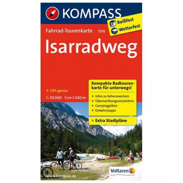 Kompass - Isarradweg - Cycling map