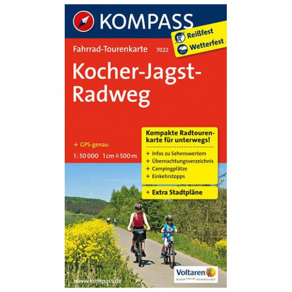 Kompass - Kocher-Jagst-Radweg - Cycling maps