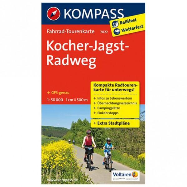 Kompass - Kocher-Jagst-Radweg - Cykelkort