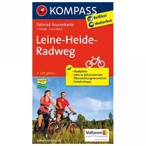Kompass - Leine-Heide-Radweg - Mapa de rutas en bicicleta