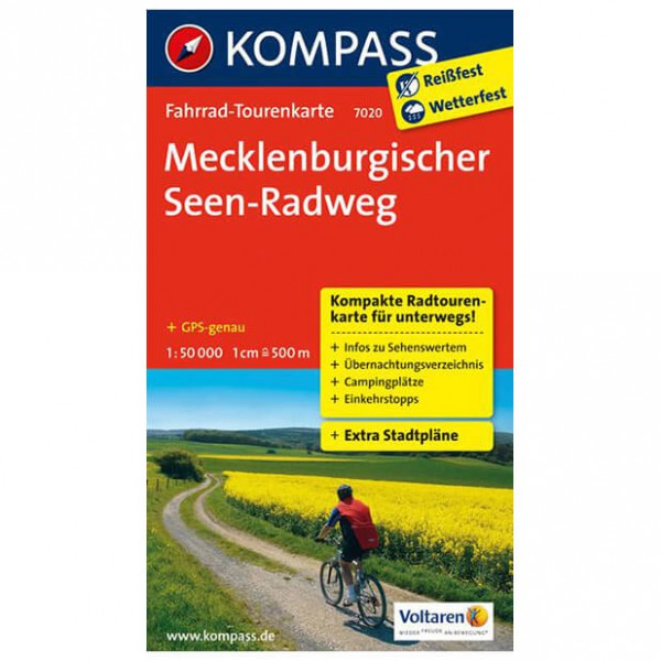 Kompass Mecklenburgischer Seen-Radweg - Cykelkort køb online | Cycle maps