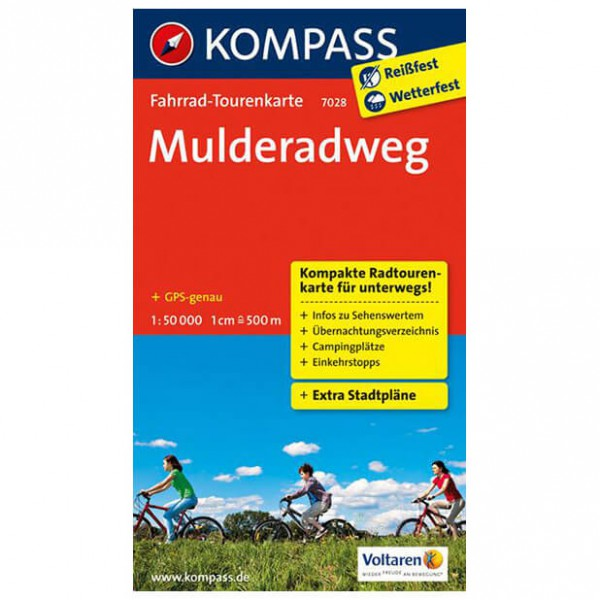 Kompass - Mulderadweg - Mapa de rutas en bicicleta