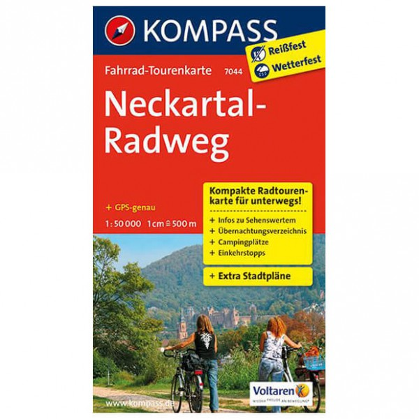 Kompass - Neckartal-Radweg - Cartes de randonnée à vélo
