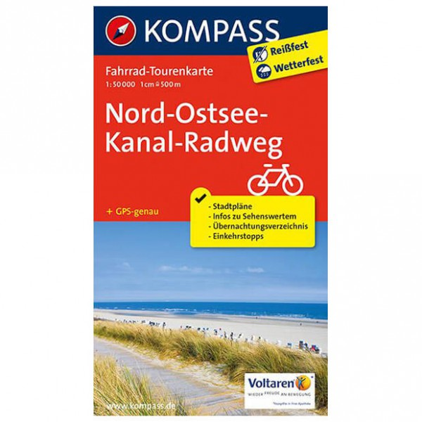 Kompass - Nord-Ostsee-Kanal-Radweg - Radkarte