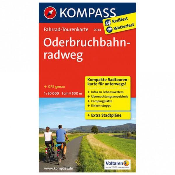 Kompass - Oderbruchbahnradweg - Mapa de rutas en bicicleta