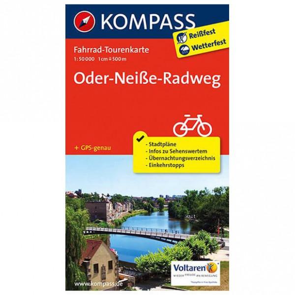 Kompass - Oder-Neiße-Radweg - Cykelkort