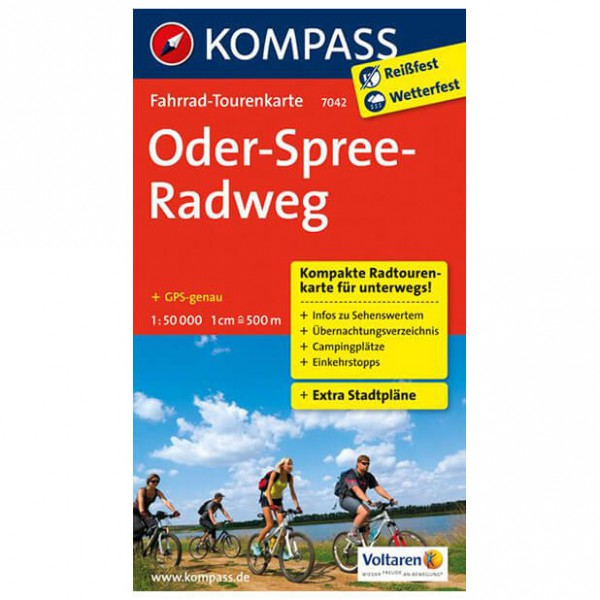 Kompass - Oder-Spree-Radweg - Cykelkort