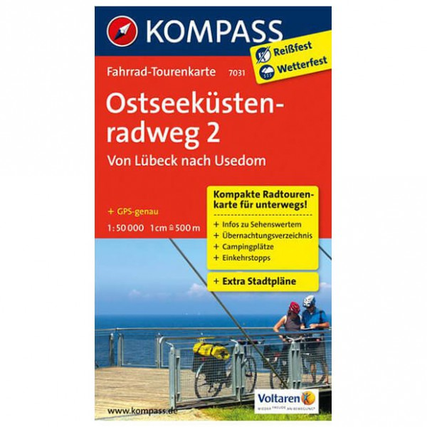 Kompass - Ostseeküstenradweg 2 - Cycling map
