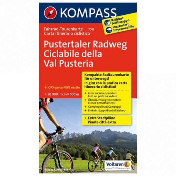Kompass - Pustertaler Radweg - Carte de cyclisme