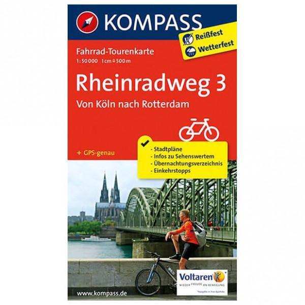 Kompass - Rheinradweg 3, Von Köln nach Rotterdam - Cycling map