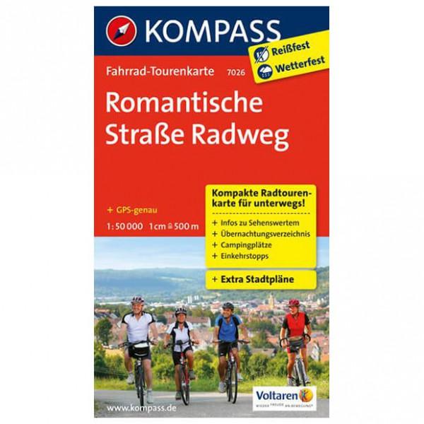 Kompass - Romantische Straße Radweg - Mapa de rutas en bicicleta