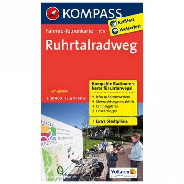 Kompass - Ruhrtalradweg - Cykelkartor