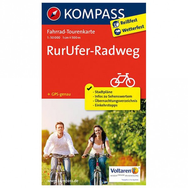 Kompass - RurUfer-Radweg - Cycling map
