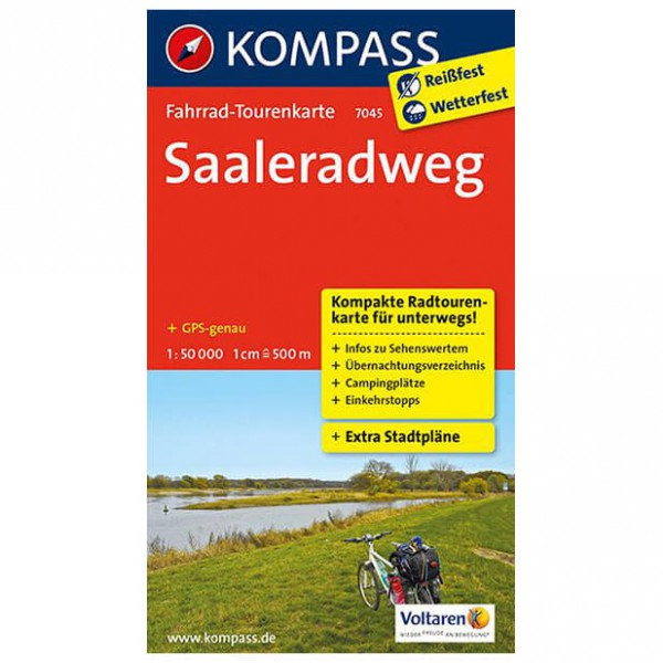 Kompass - Saaleradweg - Cycling map