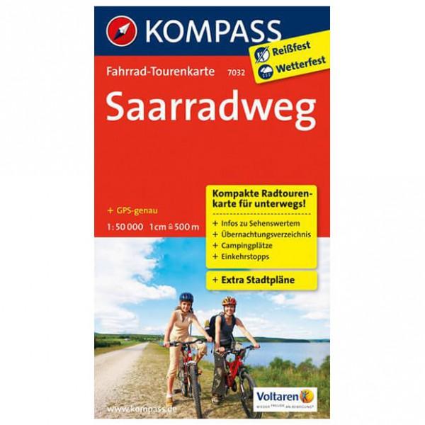 Kompass - Saarradweg - Radkarte