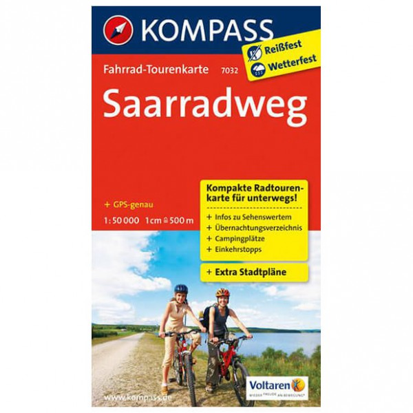 Kompass - Saarradweg - Sykkelkart