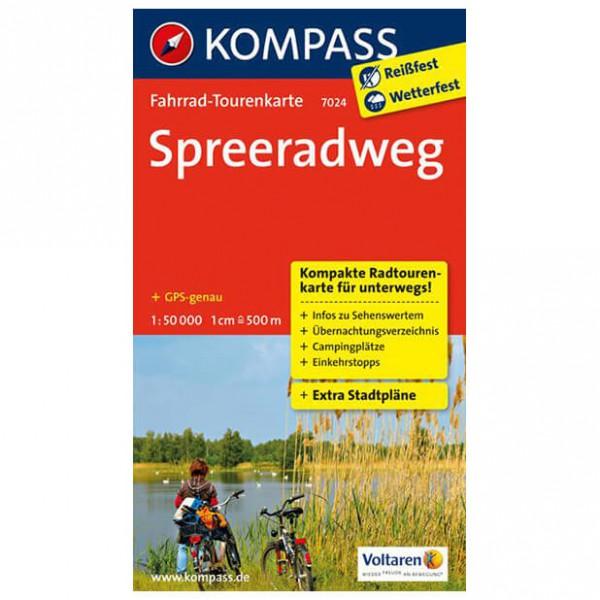 Kompass - Spreeradweg - Cartes de randonnée à vélo