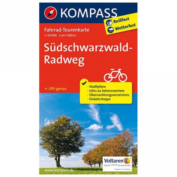 Kompass - Südschwarzwald-Radweg - Pyöräilykartat