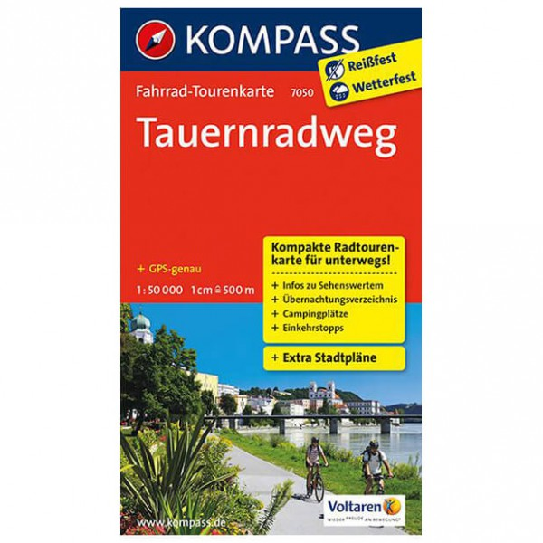 Kompass - Tauernradweg - Cartes de randonnée à vélo